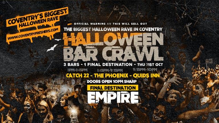 Final 50 Advanced Tickets - The Halloween Bar Crawl // Coventry Halloween 2019