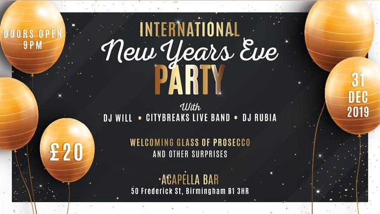 International New Years Eve Party 2020 - Birmingham
