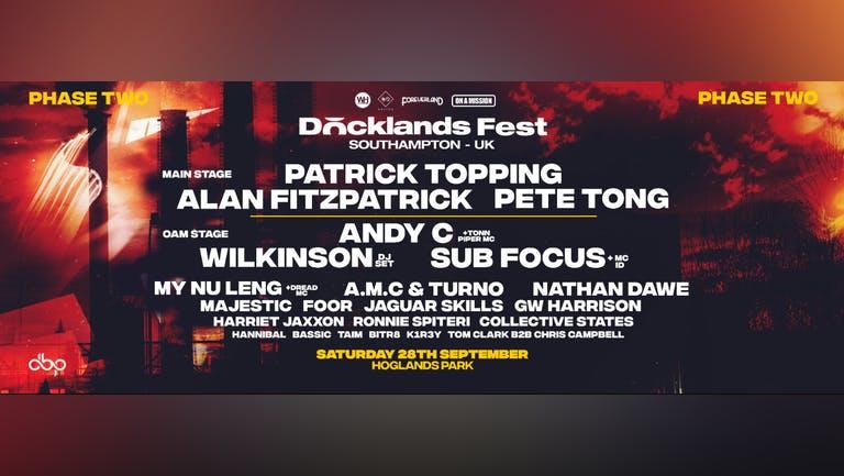 Docklands Festival Southampton - LAST CHANCE - FESTIVAL TIMES 1pm - 11pm