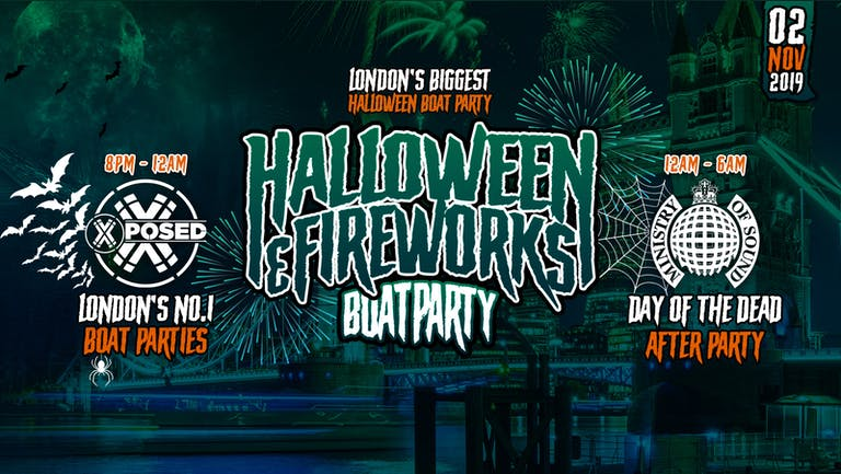 Halloween Boat Party with FREE Ministry Of Sound After Party!