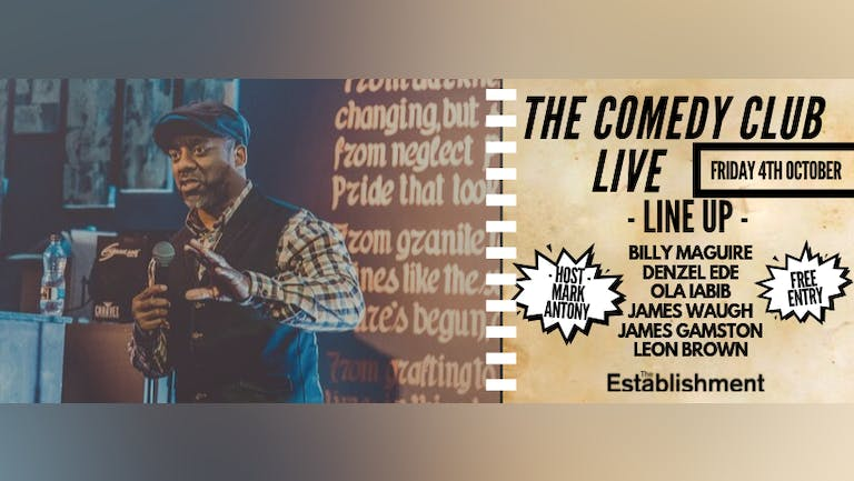 Friday 4th October ∙ Comedy Club