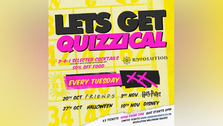 Lets Get Quizzical @ Revolution Electric Press - Halloween