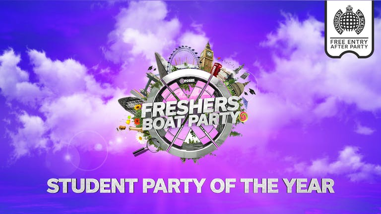 Freshers London Boat Party with Ministry of Sound After Party!