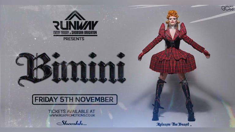 Runway Fridays •BIMINI BON BOULASH • Free w/ Jager Wristband