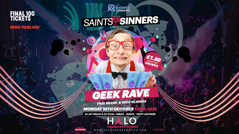 Halo Monday's - The Geek Rave 18th October | Bournemouth Freshers 2021