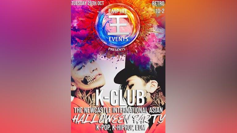 K-Club: Newcastle International Asian Halloween Party On 26/10/21