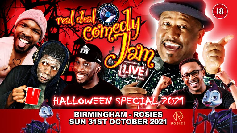 Birmingham Real Deal Comedy Jam Halloween With BBC Real McCoy Legend