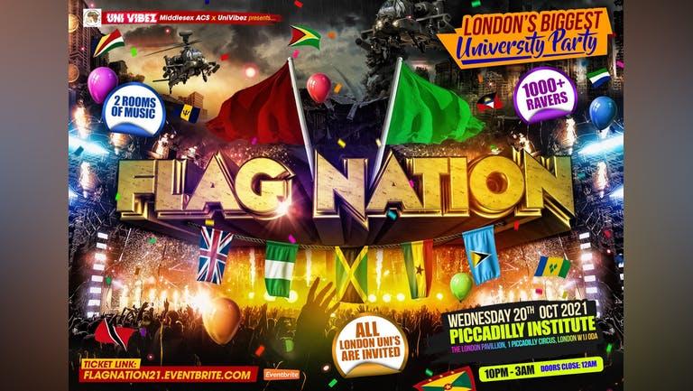 Flag Nation - London's Biggest Uni Link Up Party