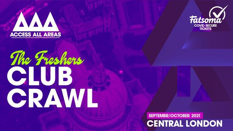 The Friday Night Freshers Club Crawl 🍻 October 22nd 2021 💥