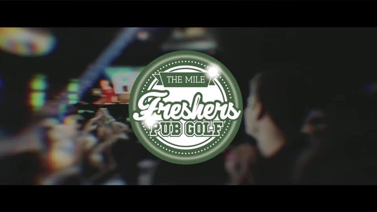 Leicester`s Biggest Welcome Party// The Mile Freshers Pub Golf 2021