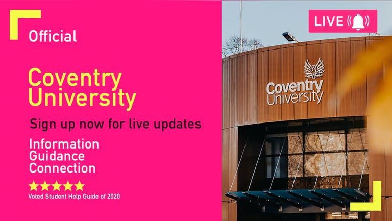 Coventry University Freshers Week 2021 - Free Pre-Sale Registration
