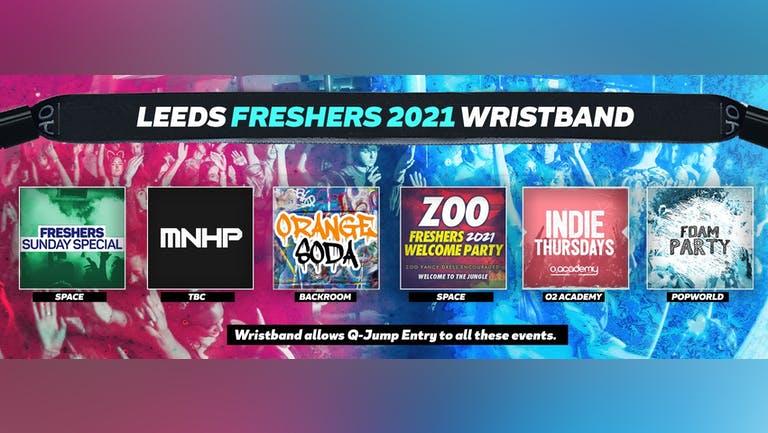 Leeds Freshers Invasion 2021 Wristband