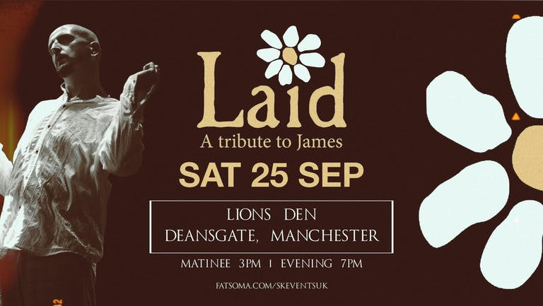 Laid - A Tribute To James Live At Lions Den, Manchester