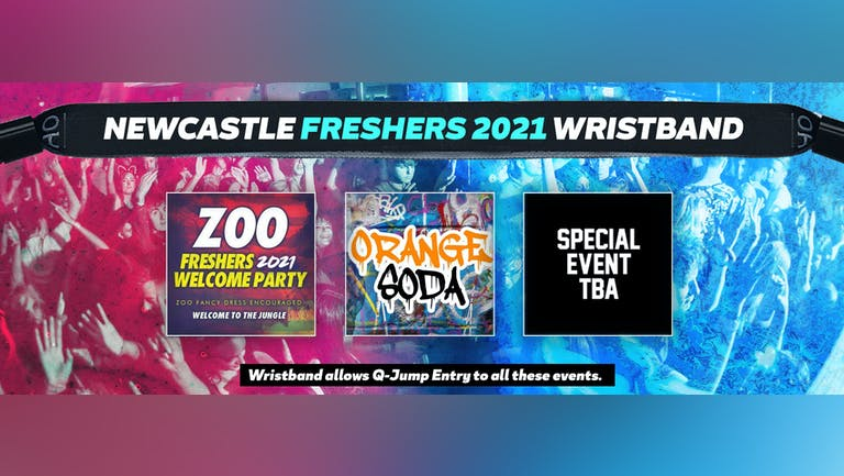 Newcastle Freshers Invasion 2021 Wristband