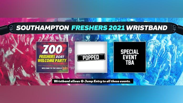 Southampton Freshers Invasion 2021 Wristband