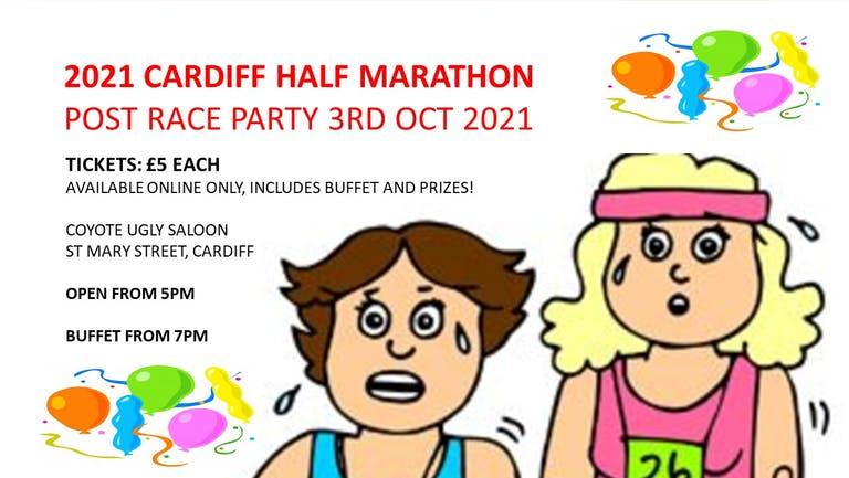 CARDIFF HALF MARATHON POST RACE PARTY 2021