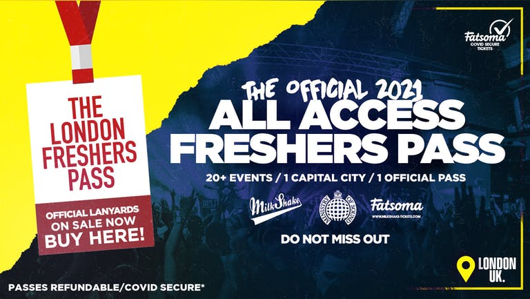 ⚠️ SOLD OUT ⚠️ The Official All Access London Freshers Pass 2021 | Lanyards ⚠️ SOLD OUT BUY SINGLE TICKETS NOW ⚠️