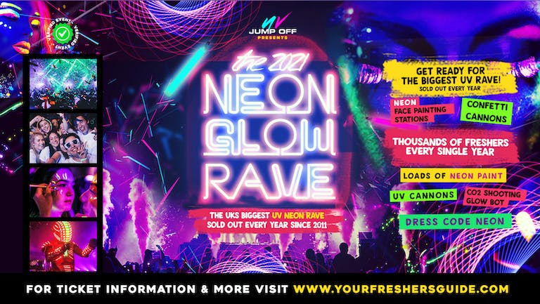 Neon Glow Rave   Surrey Freshers 2021 // Guildford Freshers 2021 - Tickets from £3!