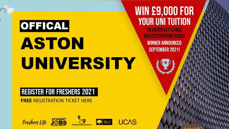Aston University Freshers Week 2021 - Sign up now! Birmingham Freshers Week Passes & more