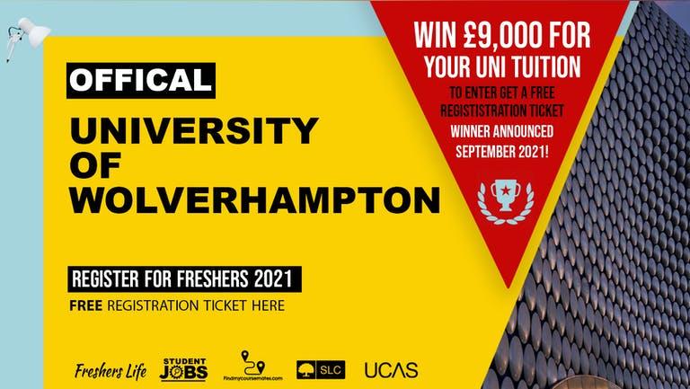University of Wolverhampton  Freshers Week 2021 - Sign up now! Wolverhampton Freshers Week Passes & more
