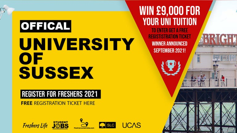 University of Sussex Week 2021 - Sign up now! Brighton Freshers Week Passes & more