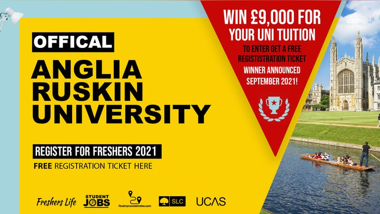 Anglia Ruskin University Week 2021 - Sign up now! Cambridge Freshers Week Passes & more