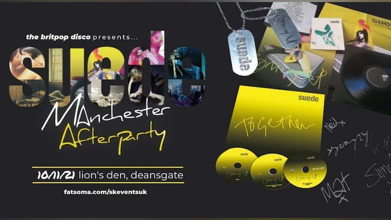 Suede Manchester Afterparty with the britpop disco dj's at Lions Den, Deansgate