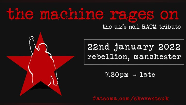 The Machine Rages On - Rage Against The Machine Tribute - 22nd January 2022 - Rebellion, Manchester