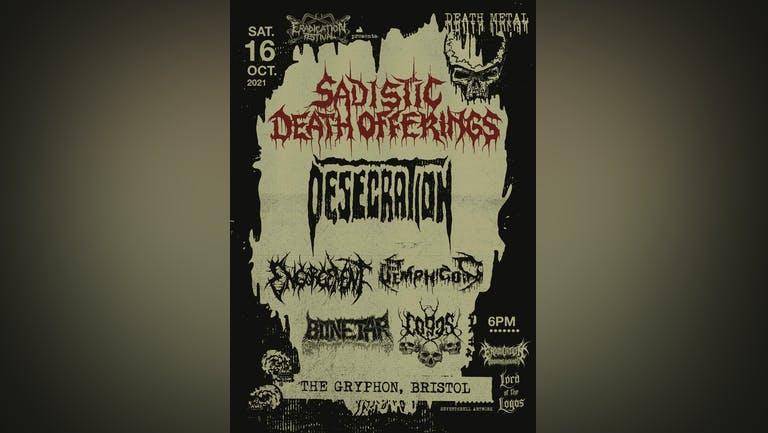 Sadistic Death Offerings - Bristol #01 (Desecration, Engorgement + more)