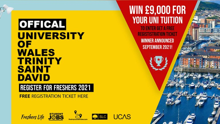 University of Wales Trinity Saint David Freshers Week 2021 - Sign up now! Swansea Freshers Week Passes & more