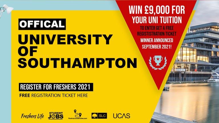 University of Southampton Freshers Week 2021 - Sign up now! Southampton Freshers Week Passes & more