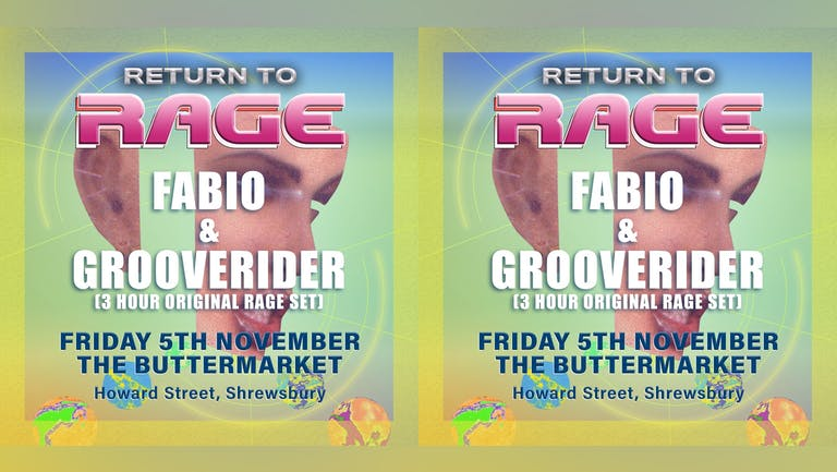 "Fabio & Grooverider ""Return to Rage"" Shrewsbury"