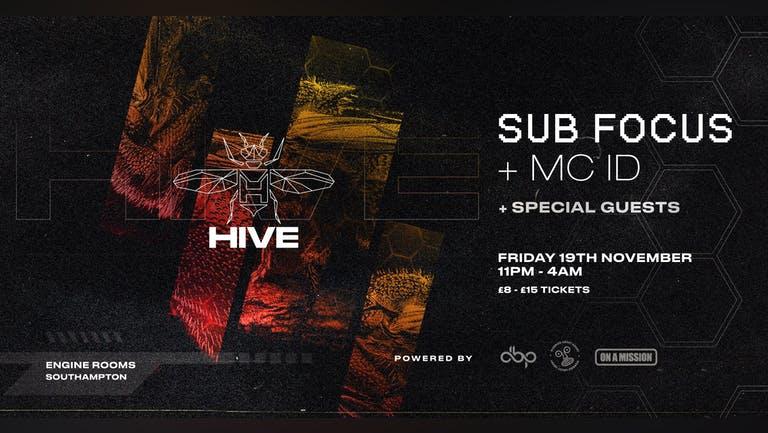 Friday 19th Nov: Hive presents: Sub Focus feat. MC ID + guests