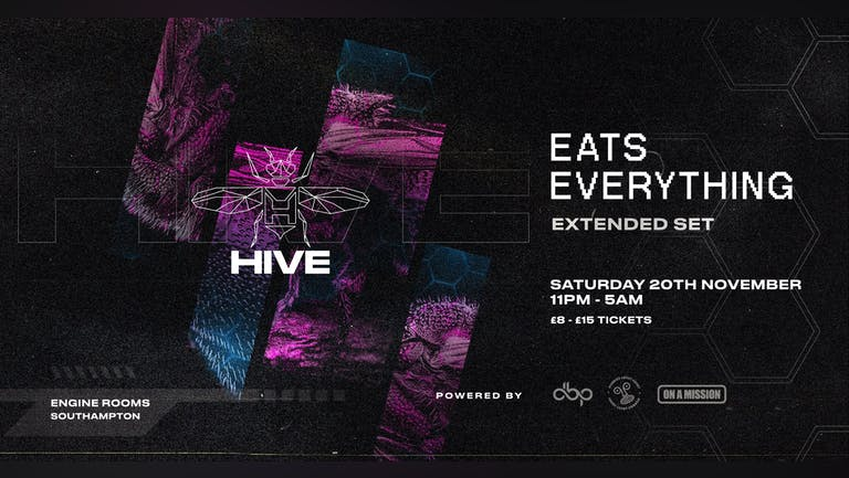 Saturday 20th Nov: Hive presents:  Eats Everything - CANCELLED