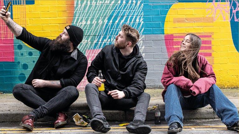 Tim Gallagher, Ellysse Mason and Mike Dignam