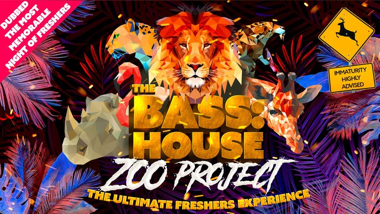 Bass:House Zoo Party Freshers Week Tours   GUILDFORD