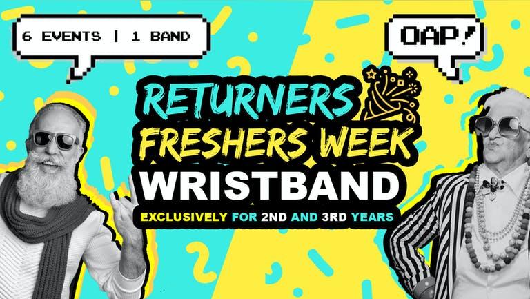 Birmingham Returners Freshers Week Wristband 2021   Exclusive for 2nd & 3rd Years