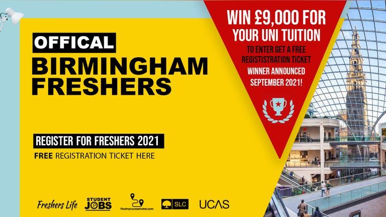Birmingham Freshers Week 2021 - Sign up now! Birmingham Freshers Week Passes & more