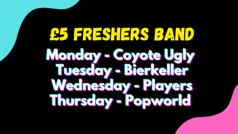 Discount Freshers Band - Birmingham Freshers 2021! 4 Events - 4 Different Venues [Final Release]