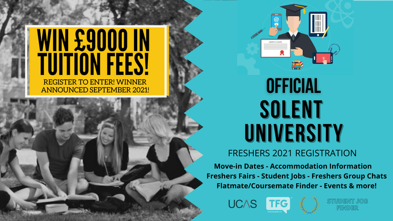 Solent University 2021 Freshers Guide. Sign up now for important freshers information! Solent University Freshers Week