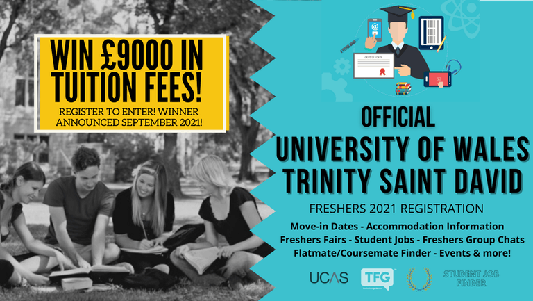 University of Wales Trinity Saint David 2021 Freshers Guide. Sign up now for important freshers information! University of Wales Trinity Saint David (UWTSD) Freshers Week