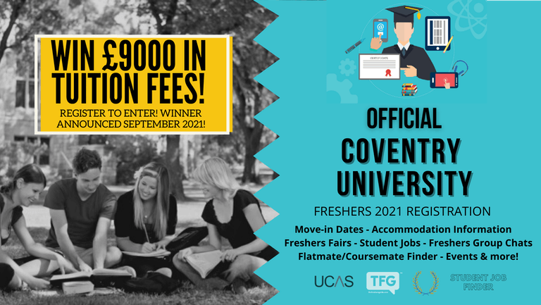 Coventry University 2021 Freshers Guide. Sign up now for important freshers information! Coventry University Freshers Week