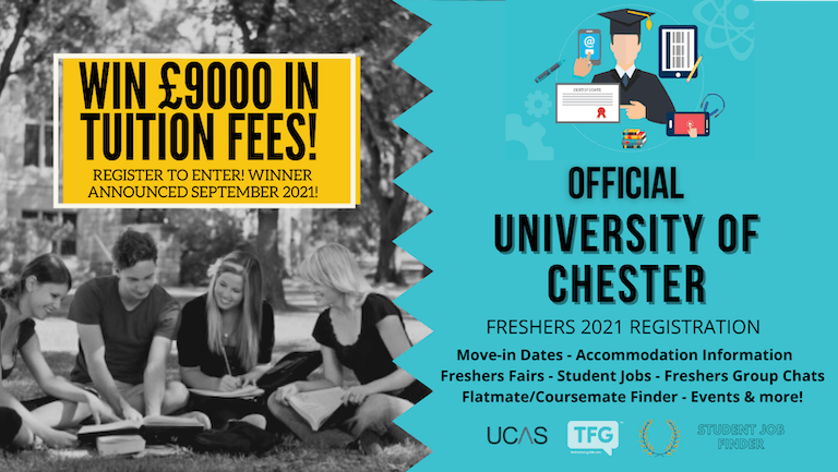 University of Chester 2021 Freshers Guide. Sign up now for important freshers information! University of Chester Freshers Week