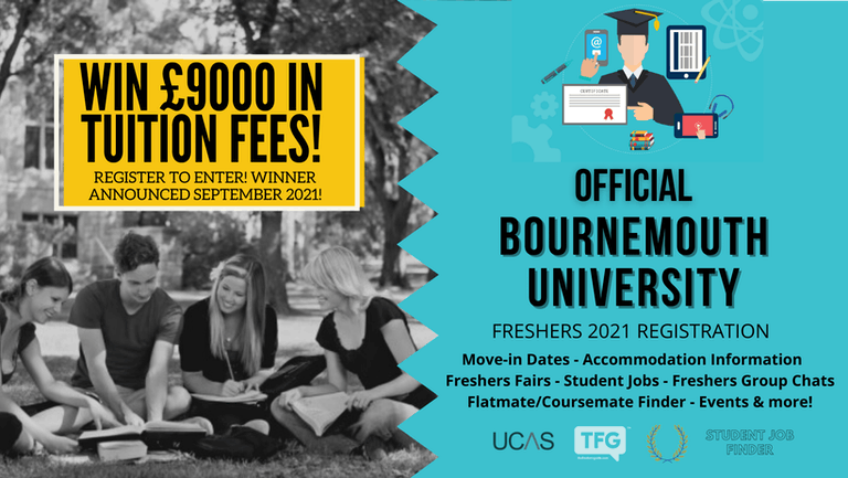 Bournemouth University 2021 Freshers Guide. Sign up now for important freshers information! Bournemouth University Freshers Week