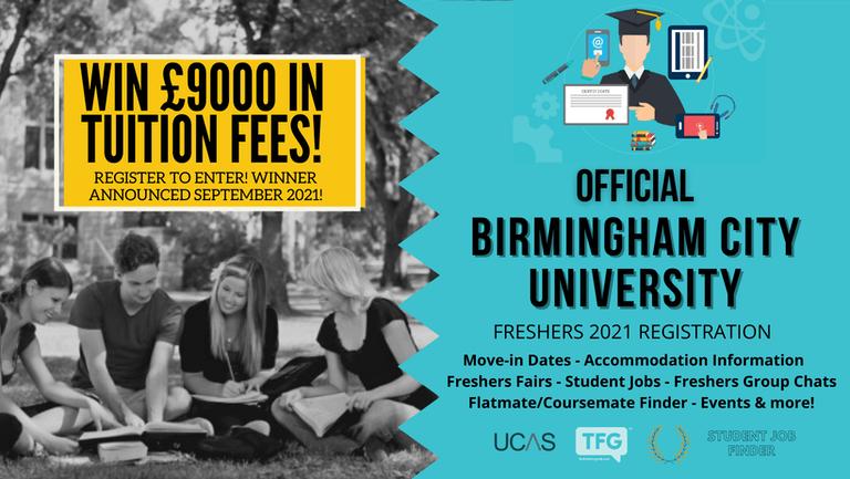 Birmingham 2021 Freshers Guide. Sign up now for important freshers information! Birmingham City University Freshers Week