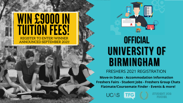University of Birmingham 2021 Freshers Guide. Sign up now for important freshers information! University of Birmingham Freshers Week