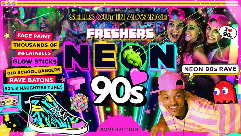 CARDIFF FRESHERS NEON 90's PARTY!