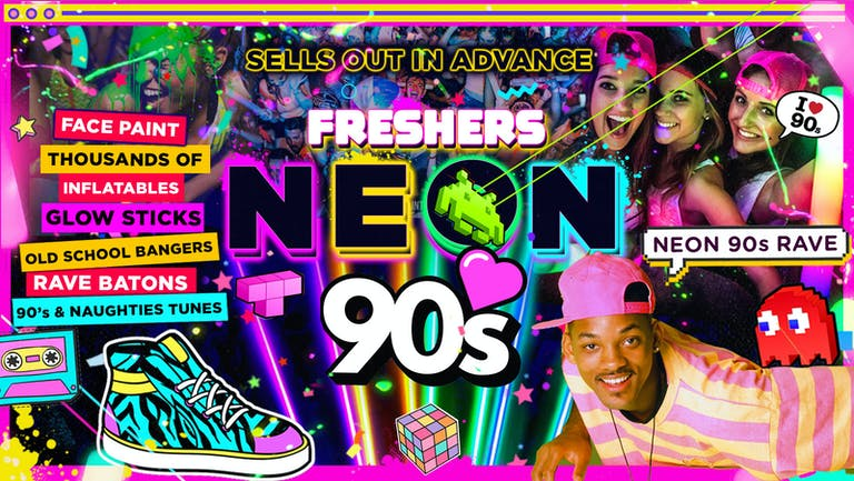PLYMOUTH FRESHERS NEON 90's PARTY!