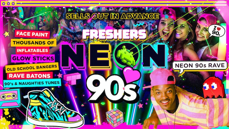 COVENTRY FRESHERS NEON 90's PARTY!