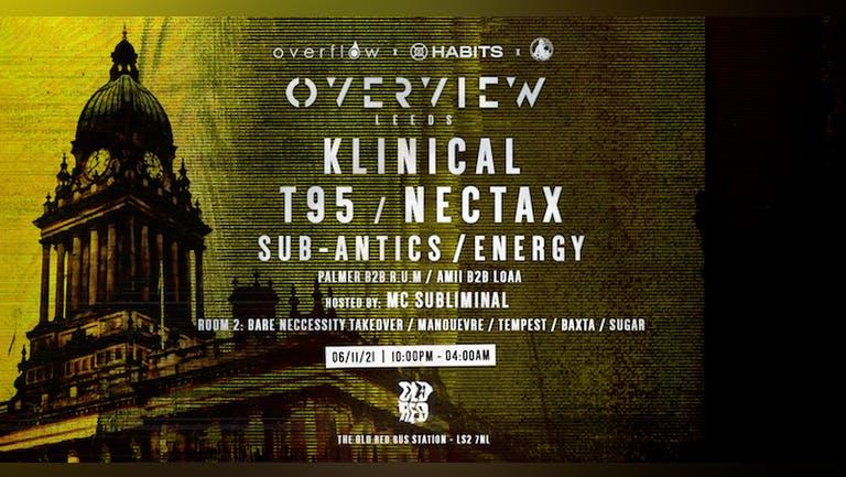 Overview Music Leeds - Klinical, Nectax, T95, Sub-Antics, Energy